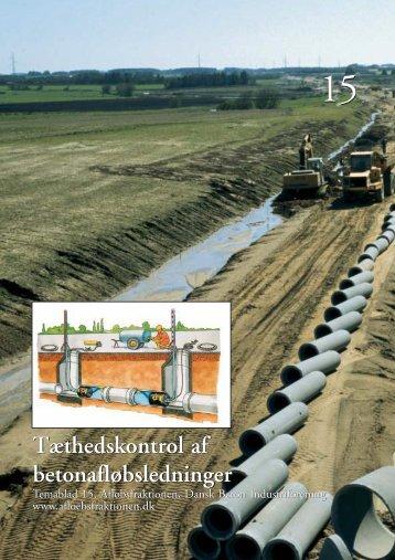 Tæthedskontrol af betonafløbsledninger ... - Dansk Byggeri