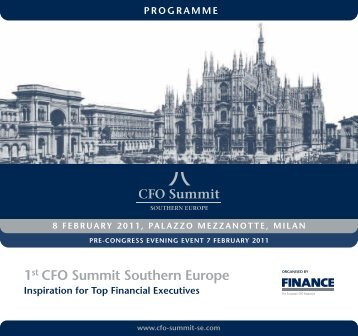 1st CFO Summit Southern Europe - Andaf