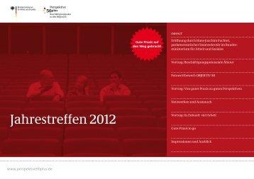 Dokumentation Jahrestreffen 2012 - Perspektive 50plus