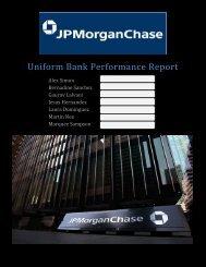 Uniform Bank Performance Report - Anderson School of Management