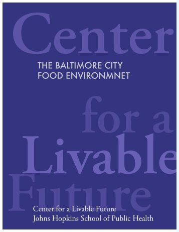 The Baltimore City Food Environment - Johns Hopkins Bloomberg ...