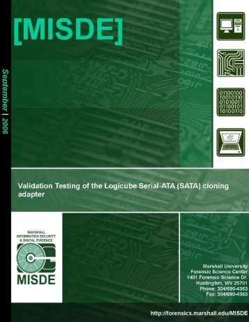 Validation Testing of the Logicube Serial-Ata (SATA) cloning adapter