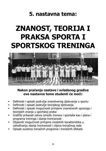 5 tema znanost teorija i praksa sporta i sportskog treninga