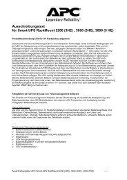 Ausschreibungstext für Smart-Ups Rackmount 2200 (3HE), 3000 ...