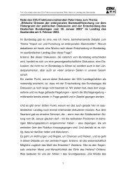 Rede des CDU Fraktionsvorsitzenden Peter Hans zum ... - CDU Saar