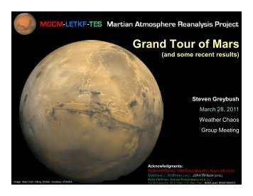 Grand Tour of Mars - Weather-Chaos Group