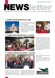 Newsletter CLEMENS 02-2010 - Clemens Gmbh & Co. KG