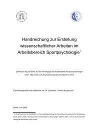 Handreichung zur Erstellung wissenschaftlicher Arbeiten im ...