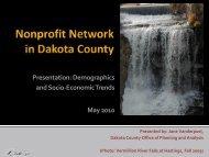 Dakota County Demographics and Socio-Economic ... - OrgSites