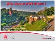 Why choose UWE Bristol ? - University of the West of England, Bristol