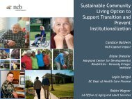 Sustainable Community Living Option to Support Transition and ...