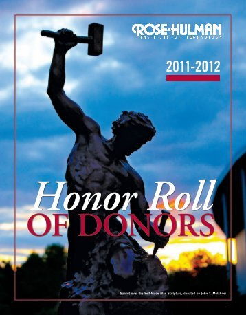ROSE-HULMAN HONOR ROLL OF DONORS, 2011-2012