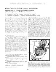 Crustal structure beneath southern Africa and its implications for the ...