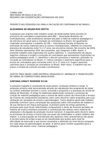 Resumos de todas as dissertações da turma de 2001 - EMAC ...
