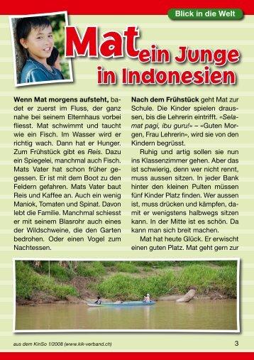 Mat, ein Junge in Indonesien