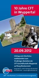20.09.2012 10 Jahre CFT in Wuppertal