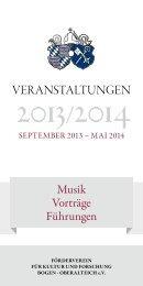 Programm Sept 2013 bis Mai 2014 - Förderverein für Kultur und ...
