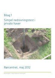 Rørcenter-anvisning 016. Bilag 1, Simpel ... - LAR i Danmark