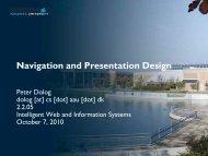 Navigation and Presentation Design