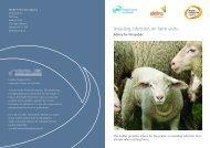 Avoiding infection on farm visits - advice for the public - NHS Kirklees