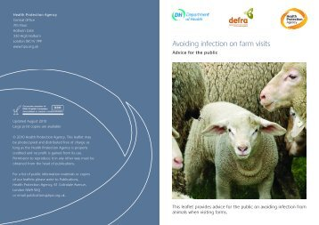 Avoiding infection on farm visits - advice for the public - NHS Kirklees