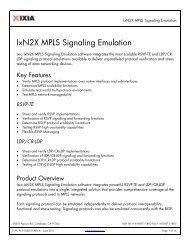 IxExplorer Specifications
