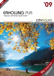 Katalog 2009 Download - City Tours