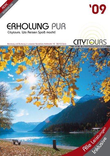 Katalog 2009 Download - City Tours