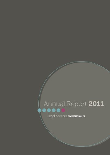 Annual Report 2011 - Legal Services Commissioner