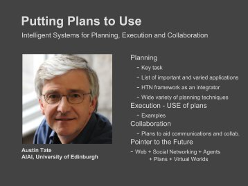 I-Plan - Artificial Intelligence Applications Institute - University of ...