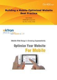 Building a Mobile-Optimized Website Best Practice - Ektron
