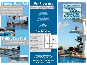 Cypress Water Park - City of Coral Springs