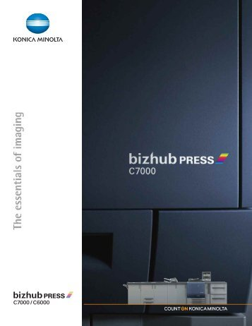 bizhub PRESS C7000/C6000 English Web Brochure