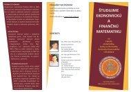 Informačný leták - Fakulta matematiky, fyziky a informatiky