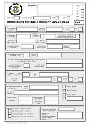 Anmeldung für das Schuljahr 2012/2013 - FMS/PTS - Startseite