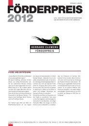 FÖRDERPREIS BERNARD CLEMENS - Clemens GmbH & Co. KG