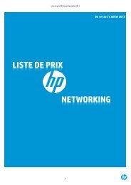LISTE DE PRIX NETWORKING - HP