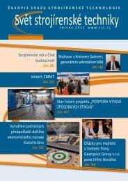 Svět strojírenské techniky číslo 2/2012 (PDF, 12.03 MB) - Svaz ...