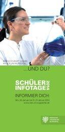 Programmheft Schülerinformationstage 2014 - Hochschule für ...