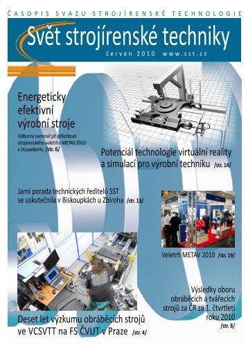 Svět strojírenské techniky číslo 1/2010 (PDF, 7.55 MB) - Svaz ...