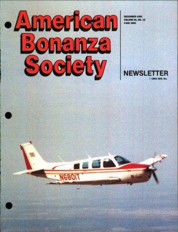 NEWSLETTER - American Bonanza Society