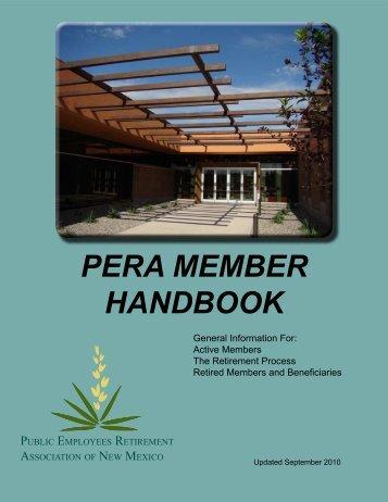 PERA MEMBER HANDBOOK - New Mexico State Judiciary