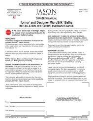 forma® and Designer Microsilk® Baths - Jason International