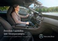 Preisliste Fahrhilfen und Sitzanpassungen. - Autostern