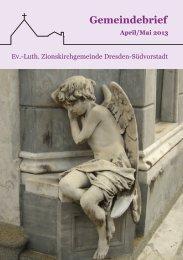 Gemeindebrief – April / Mai 2013 - Ev.-luth. Zionskirche Dresden