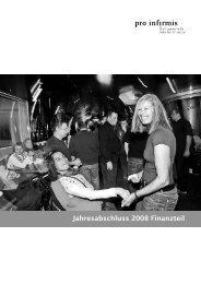 Finanzbericht 2008 - pdf, 512K - Pro Infirmis