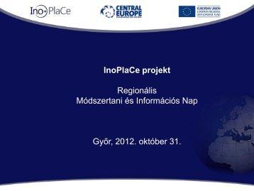 Inoplace.ppt - Nyugat-dunántúli Regionális Innovációs Ügynökség