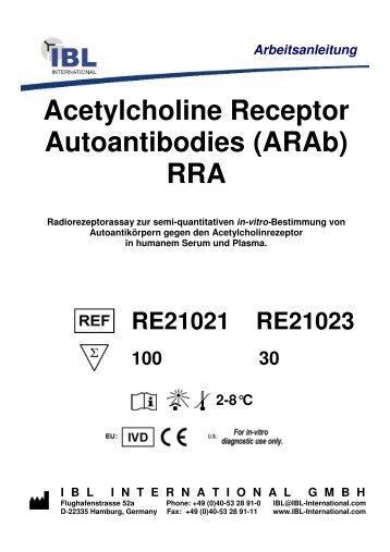 Acetylcholine Receptor Autoantibodies (ARAb) RRA - IBL international