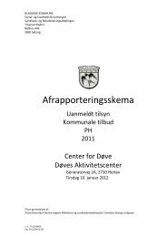 Afrapporteringsskema - Center for døve