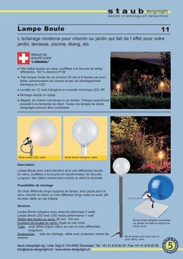 Lampe Boule - staub designlight ag